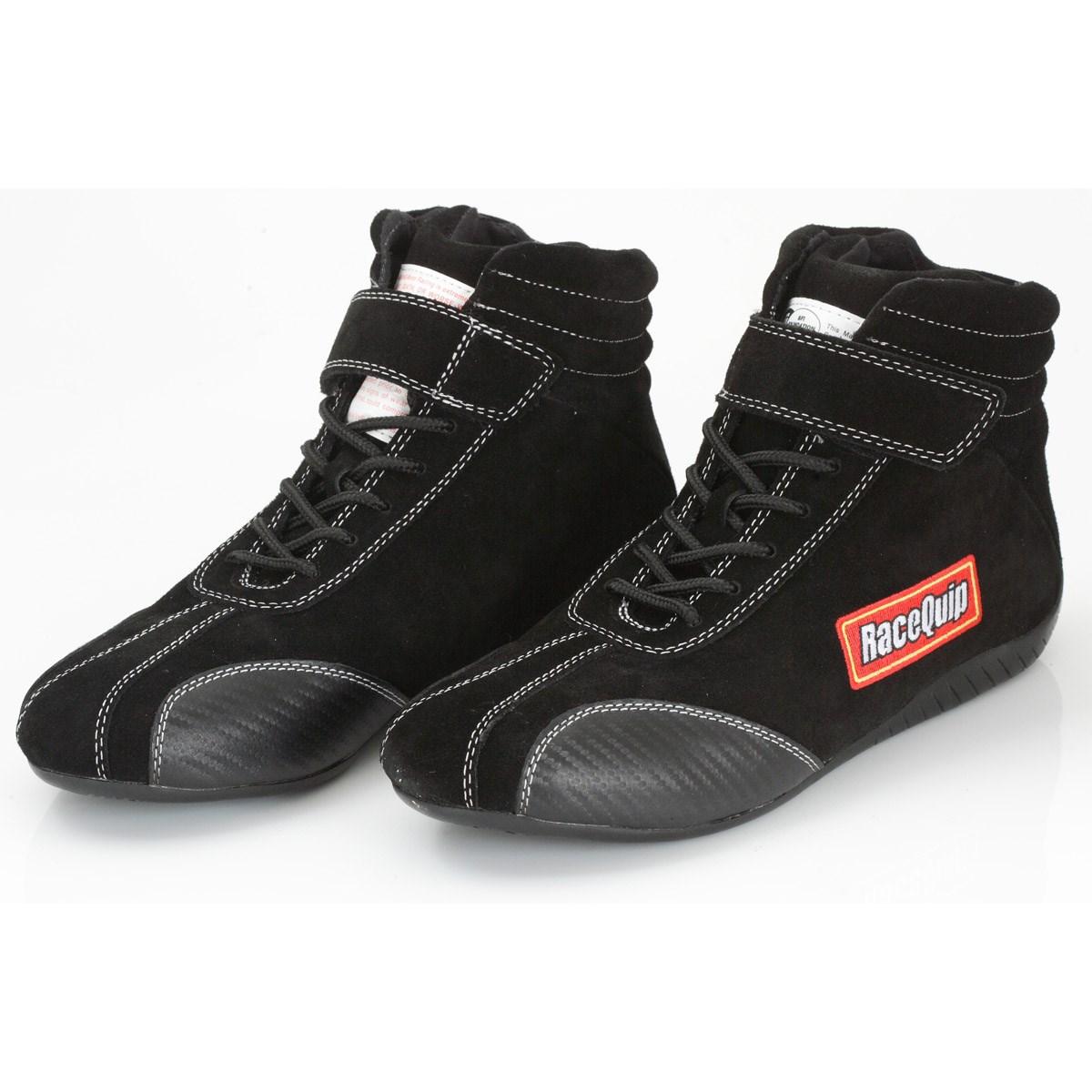 RaceQuip Race Shoes Euro Carbon-L Series SFI 3.3//5 Certified Black Size 9.5 30500095