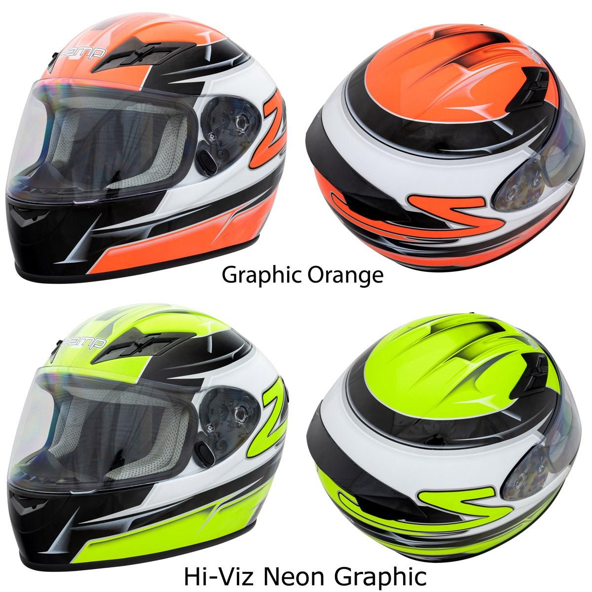 Zamp FS-8 Snell M2015 DOT Helmet Graphic Red//Black Large